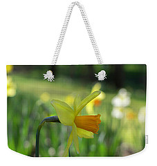 Daffodil Side Profile Weekender Tote Bag