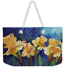 Daffodils Weekender Tote Bag by Alika Kumar