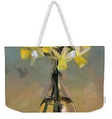 Daffodils In Glass Vase Weekender Tote Bag