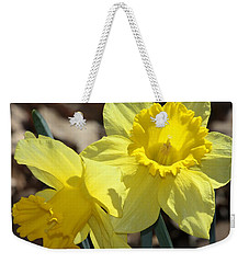 Weekender Tote Bag featuring the photograph Daffodils In Spring by Sheila Brown