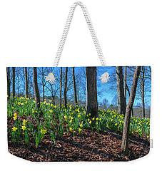 Daffodils On Hillside Weekender Tote Bag