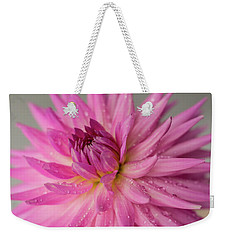 Weekender Tote Bag featuring the photograph Dahlia After The Rain by Mary Jo Allen