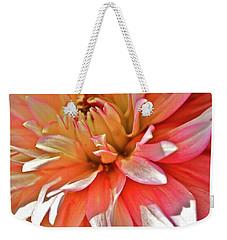 Dahlia Blush Weekender Tote Bag by Linda Bianic