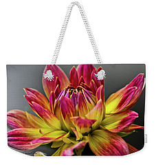 Dahlia Flame Weekender Tote Bag by Joann Copeland-Paul