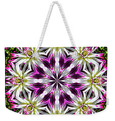 Dahlia Flower Circle Weekender Tote Bag