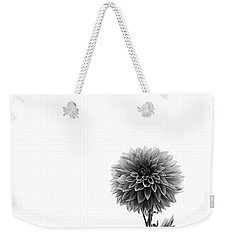 Dahlia In Black And White 2 Weekender Tote Bag by Mark Alder