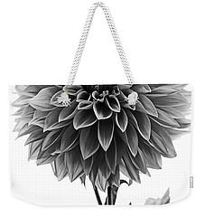 Dahlia In Black And White Weekender Tote Bag by Mark Alder