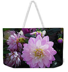 Weekender Tote Bag featuring the photograph Dahlia In Powerscourt by Melinda Saminski