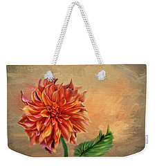 Dahlia In The Fall Weekender Tote Bag by Mary Timman