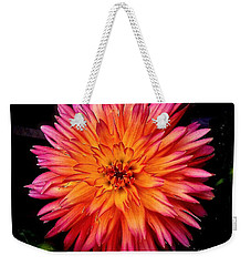 Dahlia Weekender Tote Bag by Linda Bianic