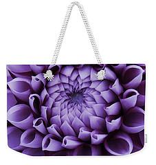 Dahlia Macro In Lavender Weekender Tote Bag