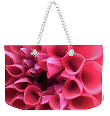 Weekender Tote Bag featuring the photograph Dahlia by Melinda Blackman