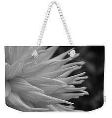 Dahlia Petals In Black And White Weekender Tote Bag
