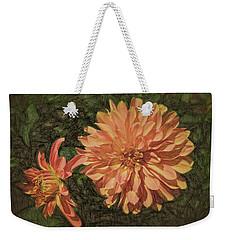 Dahlia Sketch Weekender Tote Bag
