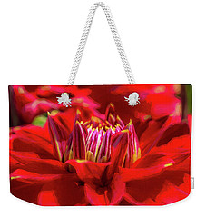 Dahlia Study 1 Painterly Weekender Tote Bag
