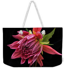 Dahlia 'wynn's King Salmon' Weekender Tote Bag