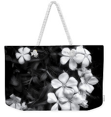 Dainty Blooms - Black And White Photograph Weekender Tote Bag by Ann Powell