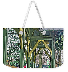 Weekender Tote Bag featuring the photograph Dairy Cottage Porch by Sandy Moulder