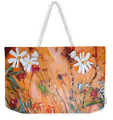 Daisies Along The Fence Weekender Tote Bag