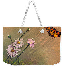 Daisies And Butterfly Weekender Tote Bag