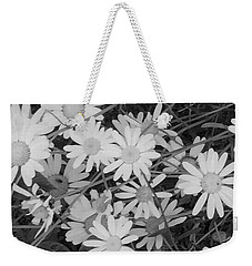 Daisies Black And White Weekender Tote Bag