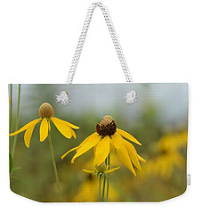 Weekender Tote Bag featuring the photograph Daisies In The Mist by Maria Urso