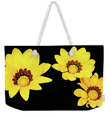 Weekender Tote Bag featuring the photograph Daisies Iv by Cassandra Buckley