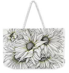 Sunflowers Pencil Weekender Tote Bag