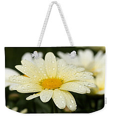 Daisy After Shower Weekender Tote Bag by Angela Rath