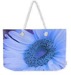Weekender Tote Bag featuring the photograph Daisy Blue by Marie Leslie