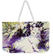 Daisy Cat Weekender Tote Bag