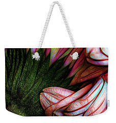 Weekender Tote Bag featuring the photograph Daisy Chain by Jessica Manelis