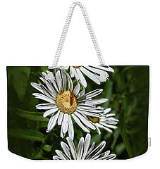 Weekender Tote Bag featuring the photograph Daisy Chain by Marie Leslie