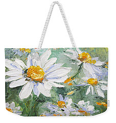 Daisy Delight Palette Knife Painting Weekender Tote Bag