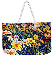 Weekender Tote Bag featuring the photograph Daisy Dream by Geri Glavis