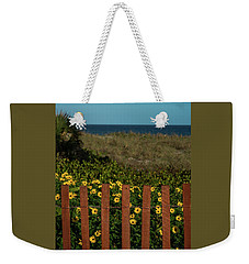 Daisy Dune Fence Delray Beach Florida Weekender Tote Bag