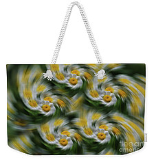 Weekender Tote Bag featuring the photograph Daisy Fever by Rachel Cohen