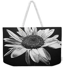 Weekender Tote Bag featuring the drawing Daisy I by Marna Edwards Flavell
