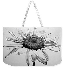 Weekender Tote Bag featuring the drawing Daisy II by Marna Edwards Flavell