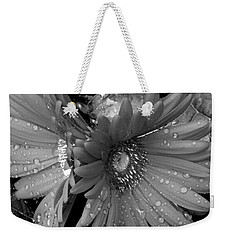 Daisy In The Rain Weekender Tote Bag by James C Thomas