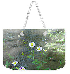 Daisy Mist Weekender Tote Bag by Elaine Hunter
