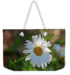 Weekender Tote Bag featuring the photograph Daisy Morning by Linda Brown