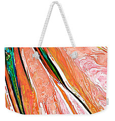 Daisy Petal Abstract In Salmon Weekender Tote Bag