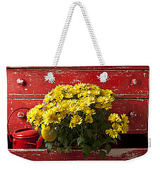 Daisy Plant In Drawers Weekender Tote Bag by Garry Gay