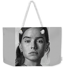 Daisy Ridley Pencil Drawing Portrait Weekender Tote Bag