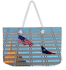 Dallas 3 Of 5 Lone Star Weekender Tote Bag by Tina M Wenger