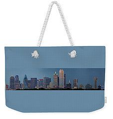 Weekender Tote Bag featuring the photograph Dallas At Night by Jonathan Davison