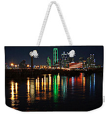 Dallas At Night Weekender Tote Bag
