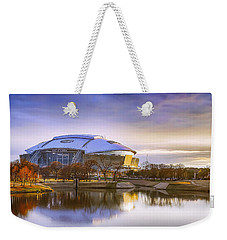 Weekender Tote Bag featuring the photograph Dallas Cowboys Stadium Arlington Texas by Robert Bellomy