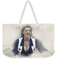 Dallas Cowboys Cheerleader Katy Marie Performs Weekender Tote Bag